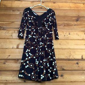 Maggy London Polka Dot 3/4 Sleeve Dress
